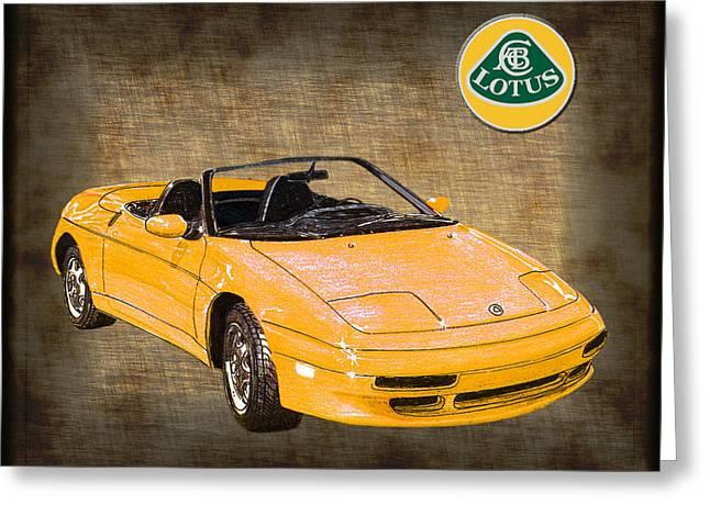 Car Art Greeting Cards - 1991 Lotus Elan Greeting Card by Jack Pumphrey