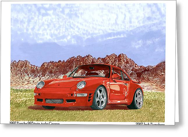 Except Greeting Cards - 1997 Porsche 993 Twin Turbo  Greeting Card by Jack Pumphrey