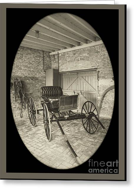 Buggy Whip Greeting Cards - 19th Century Carriage Greeting Card by Imagery by Charly
