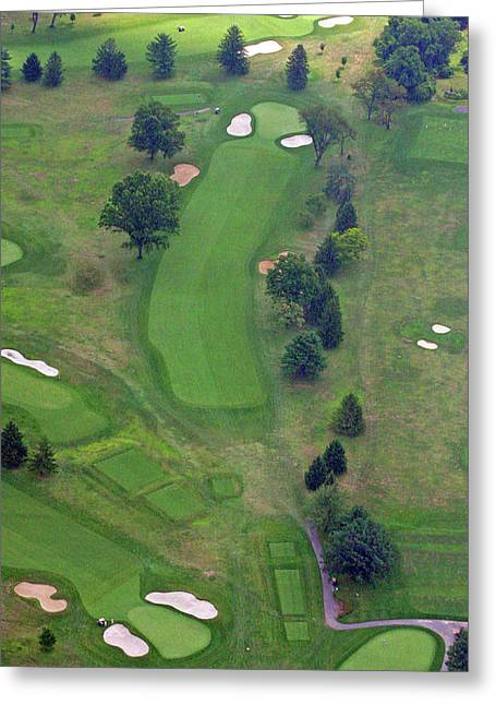 Plymouth Meeting Aerials Greeting Cards - 1st Hole Sunnybrook Golf Club 398 Stenton Avenue Plymouth Meeting PA 19462 1243 Greeting Card by Duncan Pearson
