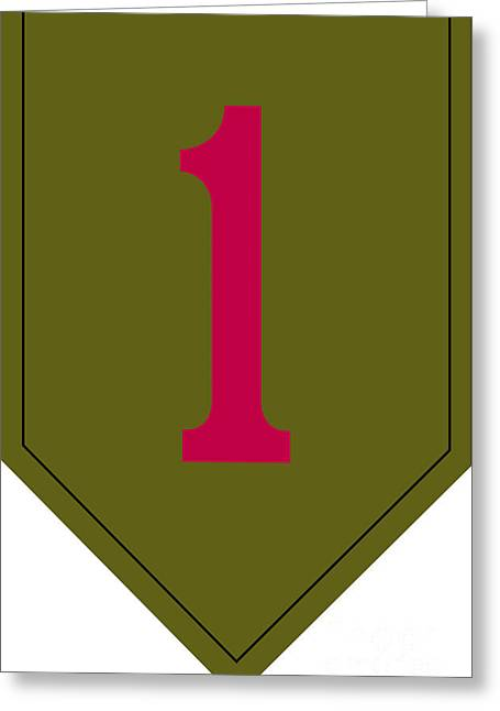 Big Red One Greeting Cards - 1st Infantry Division Shoulder Sleeve Greeting Card by Stocktrek Images