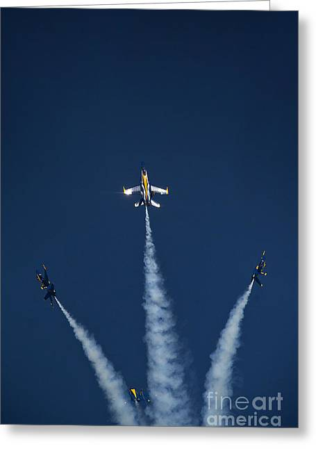 Detachment Greeting Cards -  the Blue Angels Greeting Card by Celestial Images