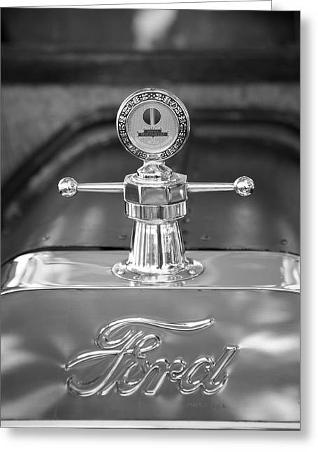 Ford Model T Car Greeting Cards - 1915 Ford Model T Emblem Greeting Card by Brooke Roby