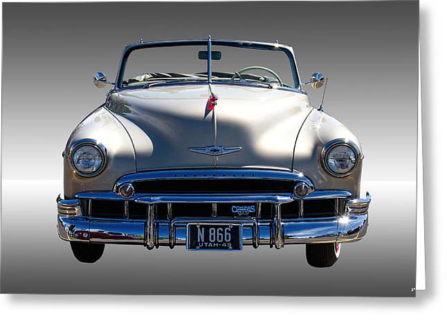 Chev Deluxe Auto Greeting Cards - 1949 Chevrolet Convertible Greeting Card by Nick Gray