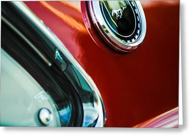 1969 Ford Mustang Mach 1 Emblem Greeting Card by Jill Reger