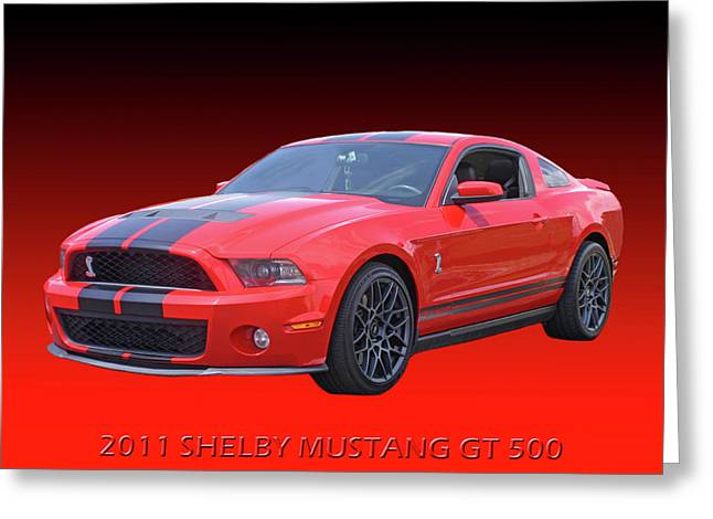 2011 Shelby American Mustang Greeting Card by Jack Pumphrey
