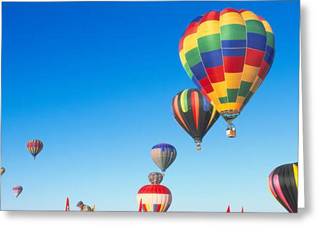 25th Albuquerque International Balloon Greeting Card by Panoramic Images