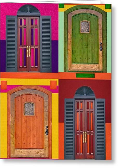 4doors Greeting Card by Art Spectrum