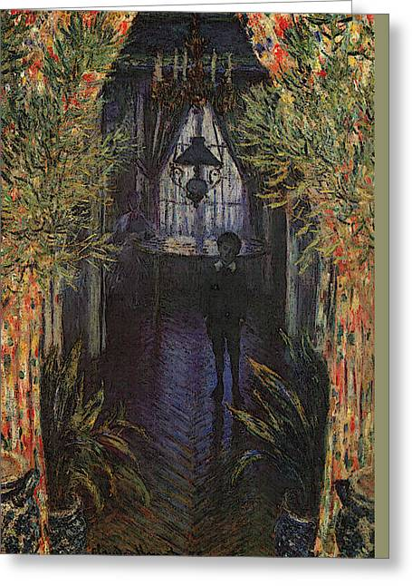 Chandelier Greeting Cards - A Corner of the Apartment Greeting Card by Claude Monet