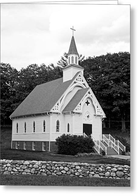 Stonewall Greeting Cards - A Country Church In Connecticut Greeting Card by Mountain Dreams