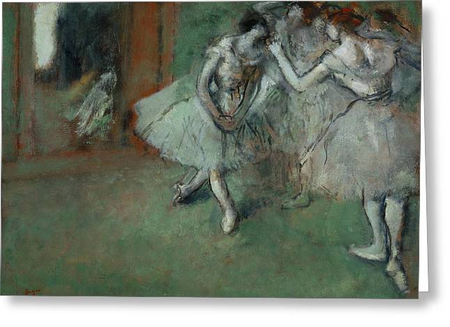Edgar Home Greeting Cards - A Group Of Dancers Greeting Card by Edgar Degas