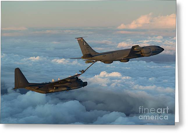 Kc Greeting Cards - A Mc-130h Combat Talon Ii Greeting Card by Gert Kromhout