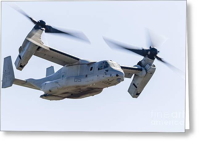 Sonoma County Greeting Cards - A U.s. Marine Corps V-22 Osprey Flies Greeting Card by Rob Edgcumbe