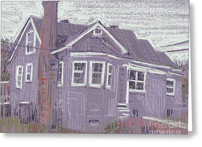 Abandoned Houses Pastels Greeting Cards - Abandoned House Greeting Card by Donald Maier