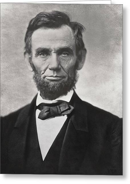 Slavery Greeting Cards - ABRAHAM LINCOLN - 16th U S PRESIDENT Greeting Card by Daniel Hagerman