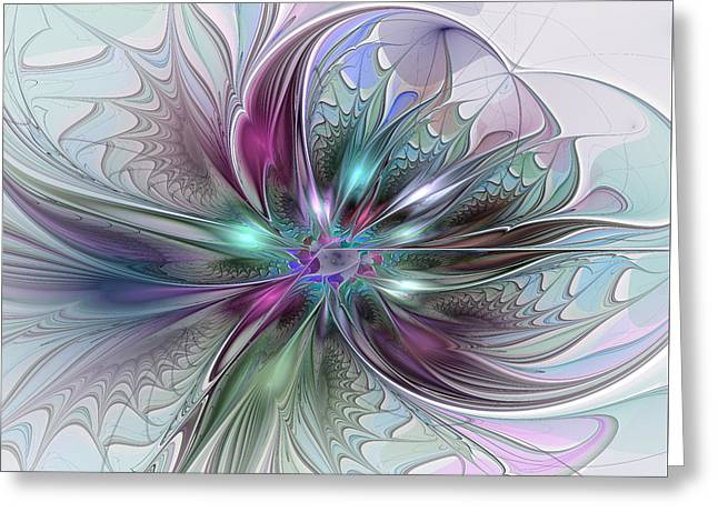 Wine Deco Art Digital Art Greeting Cards - Abstract Art Greeting Card by Gabiw Art
