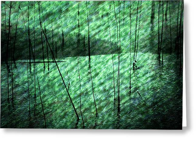 Abstractions Greeting Cards - Abstract landscape Greeting Card by Heinz Dieter Falkenstein