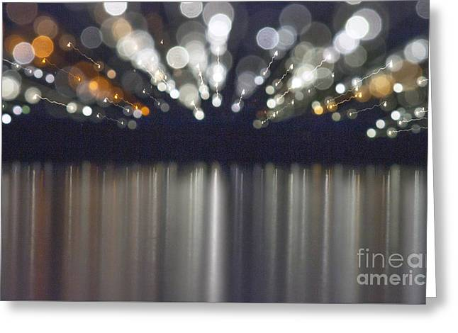 Industrial Background Greeting Cards - Abstract light texture with mirroring effect Greeting Card by Odon Czintos