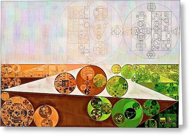 Abstract Painting - Brown Bramble Greeting Card by Vitaliy Gladkiy