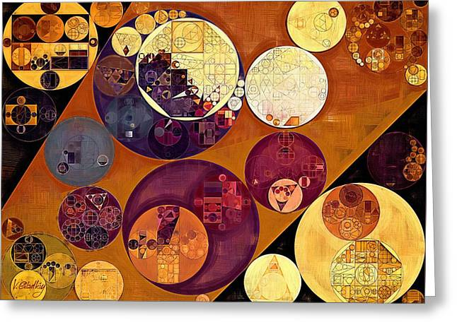 Abstract Painting - Cherokee Greeting Card by Vitaliy Gladkiy