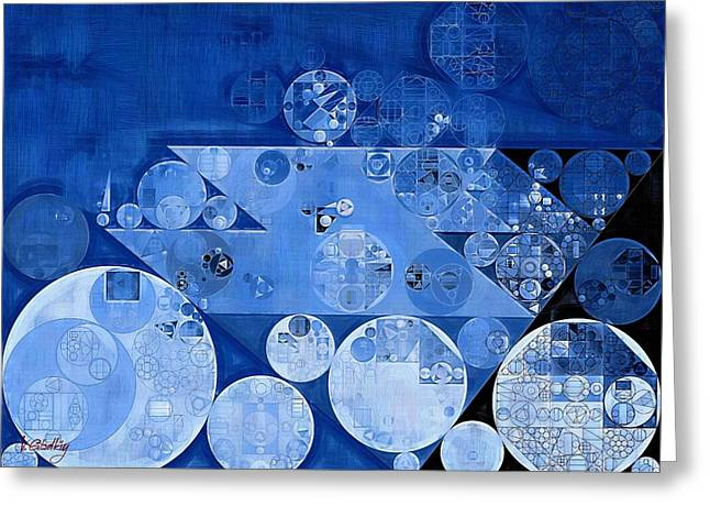 Abstract Painting - Havelock Blue Greeting Card by Vitaliy Gladkiy