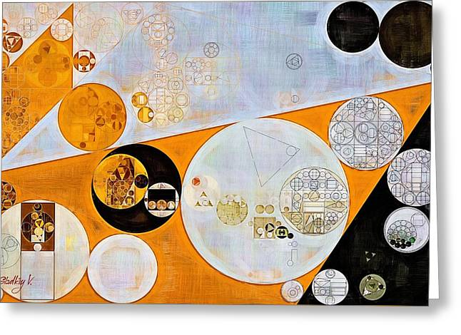Light Grey Greeting Cards - Abstract painting - Ochre Greeting Card by Vitaliy Gladkiy