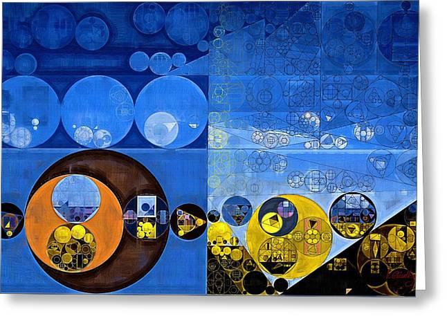 Abstract Painting - Satin Sheen Gold Greeting Card by Vitaliy Gladkiy