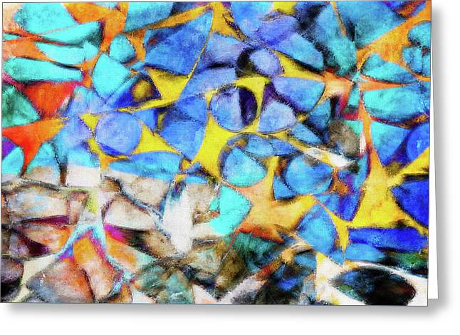 Abstract Painting Greeting Card by Tom Gowanlock
