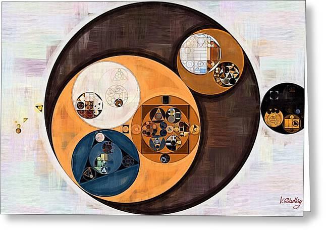 Abstract Painting - Wood Bark Greeting Card by Vitaliy Gladkiy