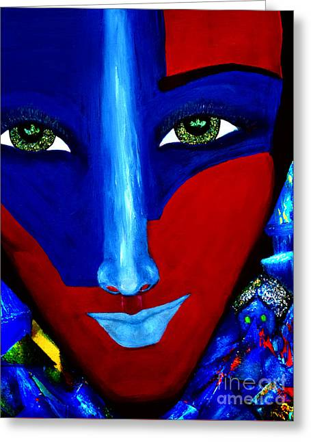 Geometrical Art Greeting Cards - Abstract Three Greeting Card by Patricia Motley