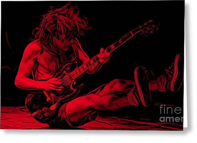 Acdc Greeting Cards - ACDC Collection Greeting Card by Marvin Blaine
