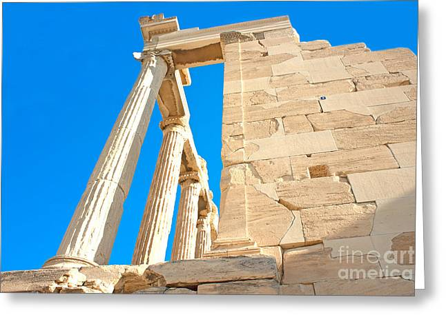 Historic Site Pyrography Greeting Cards - Acropolis Of Athens Greeting Card by Fineart Photographs