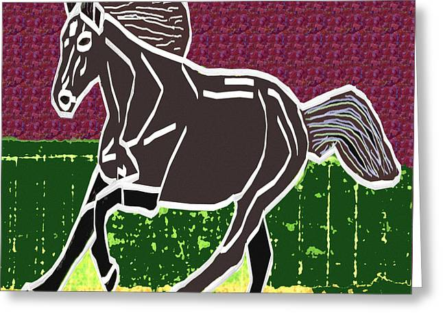 Race Horse Greeting Cards - Acrylic painted horse on display fineart by NavinJoshi at FineArtAmerica.com for the fans of horses Greeting Card by Navin Joshi