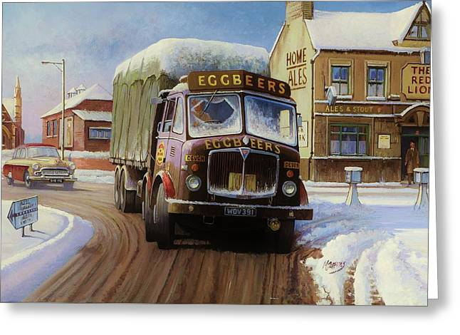 Winter Time Greeting Cards - AEC Tinfront Greeting Card by Mike  Jeffries