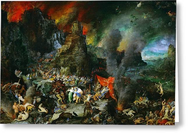 Goblin Greeting Cards - Aeneas and Sibyl in the Underworld Greeting Card by Jan Brueghel the Elder