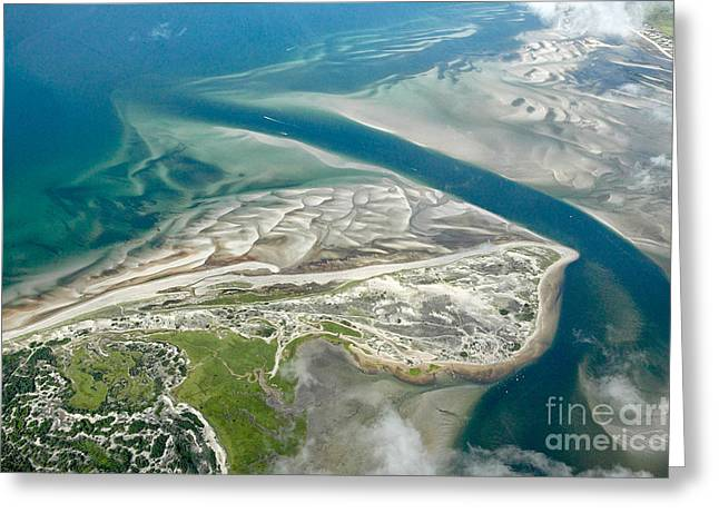 Cape Cod Bay Greeting Cards - Aerial vew of Sandy Neck Beach in Barnstable on Cape Cod Massac Greeting Card by Matt Suess