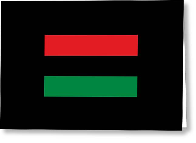 African Heritage Greeting Cards - Afro-American Flag Greeting Card by Frederick Holiday