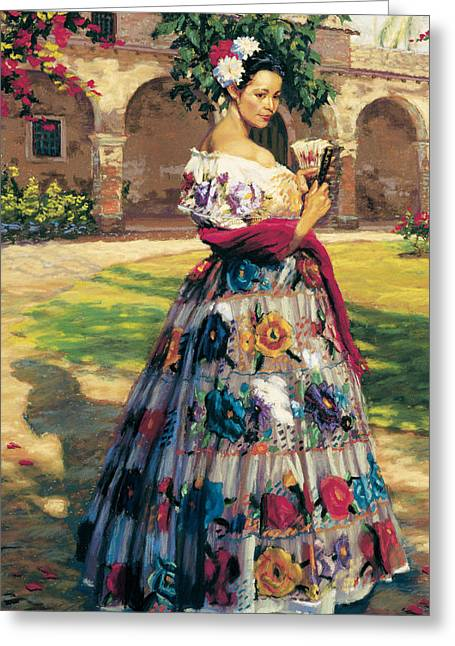 Figurative Greeting Cards - Al Aire Libre Greeting Card by Jean Hildebrant