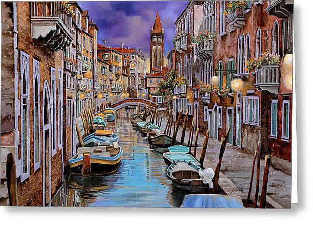 Venedig Greeting Cards - Quasi Lalba Greeting Card by Guido Borelli