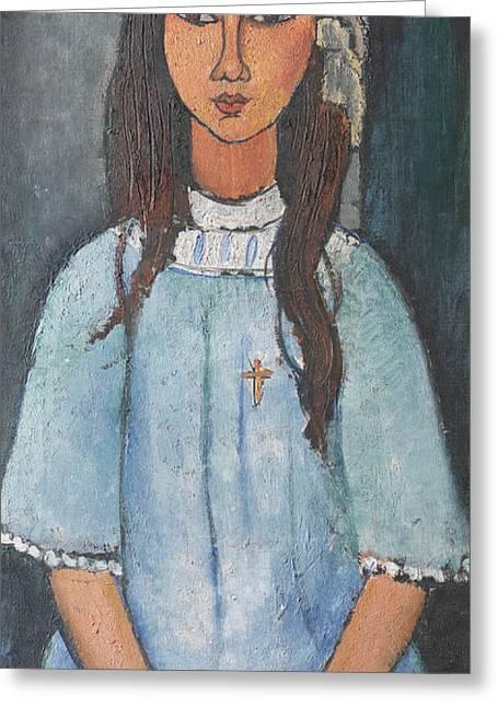 Alice Greeting Card by Amedeo Modigliani
