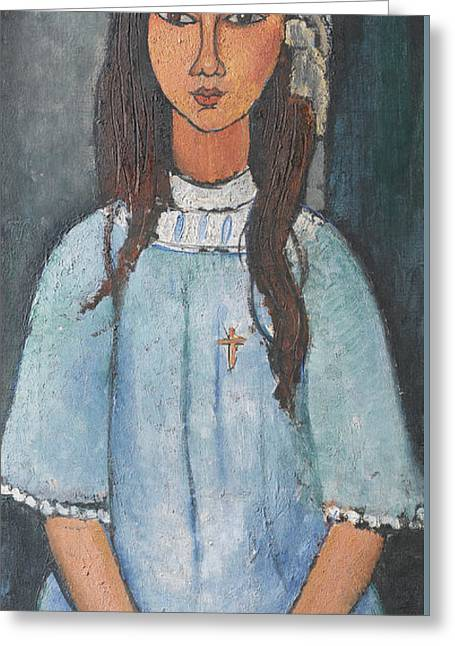 20th Greeting Cards - Alice Greeting Card by Amedeo Modigliani