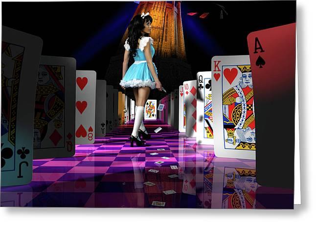Alice In Wonderland Greeting Card by Oleksiy Maksymenko