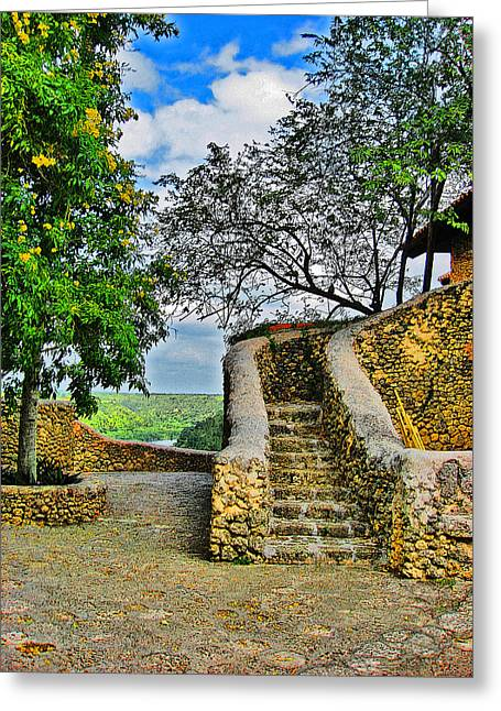 Young Michael Jackson Greeting Cards - Altos de Chavon texture. Republica Dominicana. Greeting Card by Andy Za