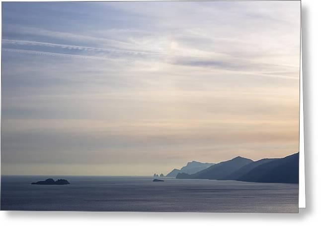 Amalfi Coast Greeting Card by Joana Kruse