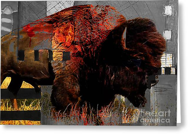 American Buffalo Collection Greeting Card by Marvin Blaine