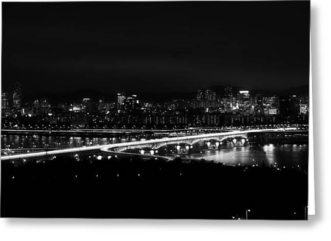 Seoul Greeting Cards - An Evening in Seoul  Greeting Card by Ruru Computer