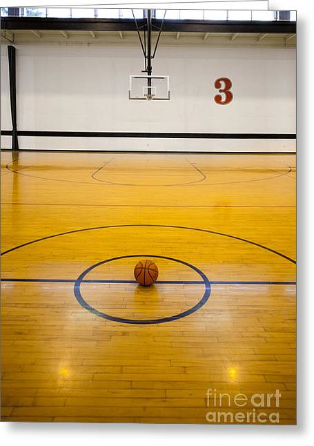Backboards Greeting Cards - An Indoor Sports Venue. Basketball Greeting Card by Christian Scully