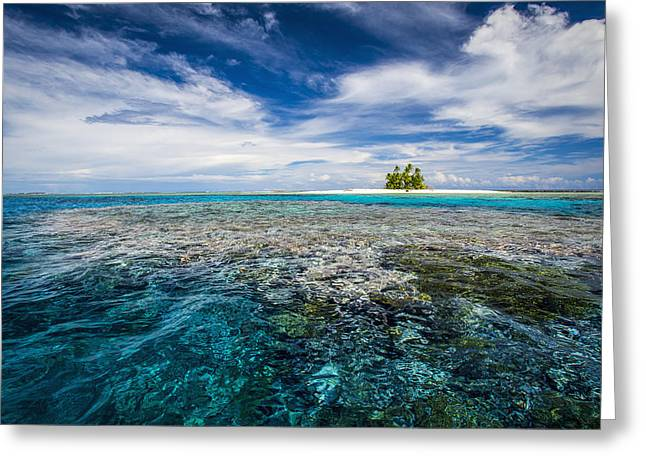 Peaceful Scenery Greeting Cards - An Island That Forms Part Of The Marine Greeting Card by David Kirkland