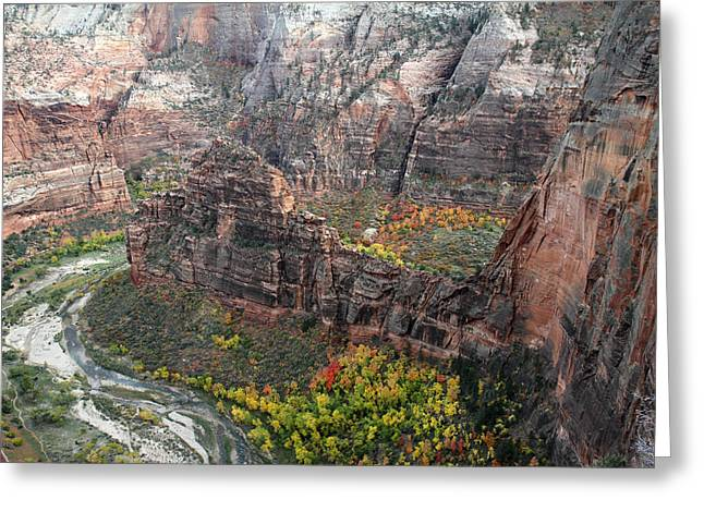 Angels Landing In Zion Greeting Card by Pierre Leclerc Photography