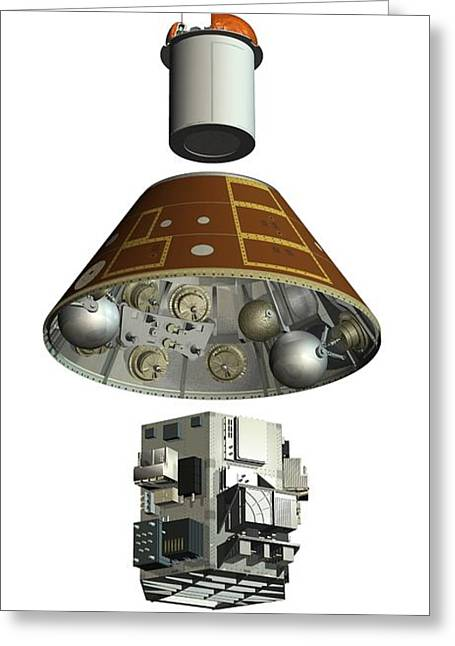 Component Greeting Cards - Ard Capsule, Artwork Greeting Card by David Ducros